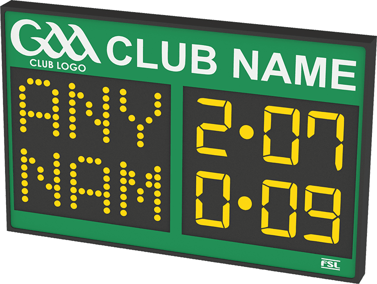 G02: Club Branded Scoreboard with Digital Team Names Product Image