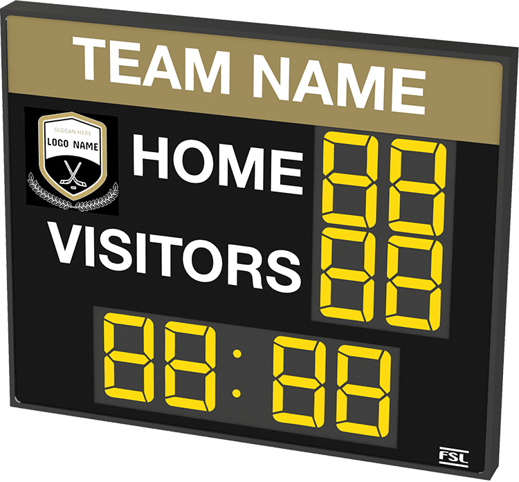 M02: Club Branded Scoreboard with Clock (Hockey) Product Image