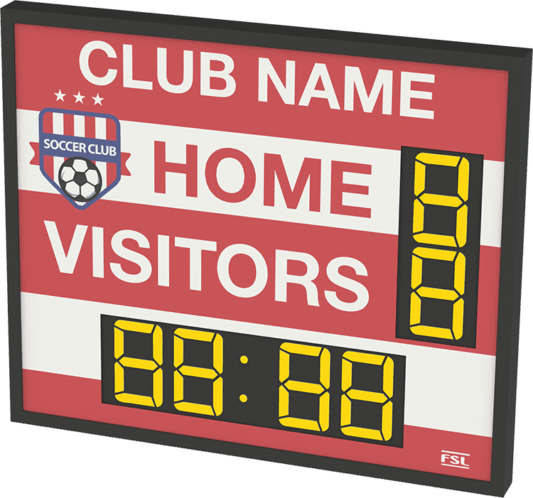 M02: Club Branded Scoreboard with Clock (Football) Product Image