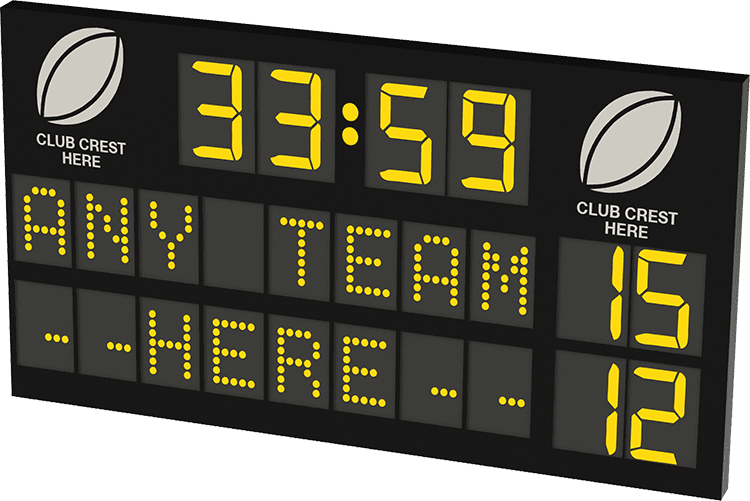 M03: Club Branded Scoreboard with Digital Team Names and Clock Featured Image