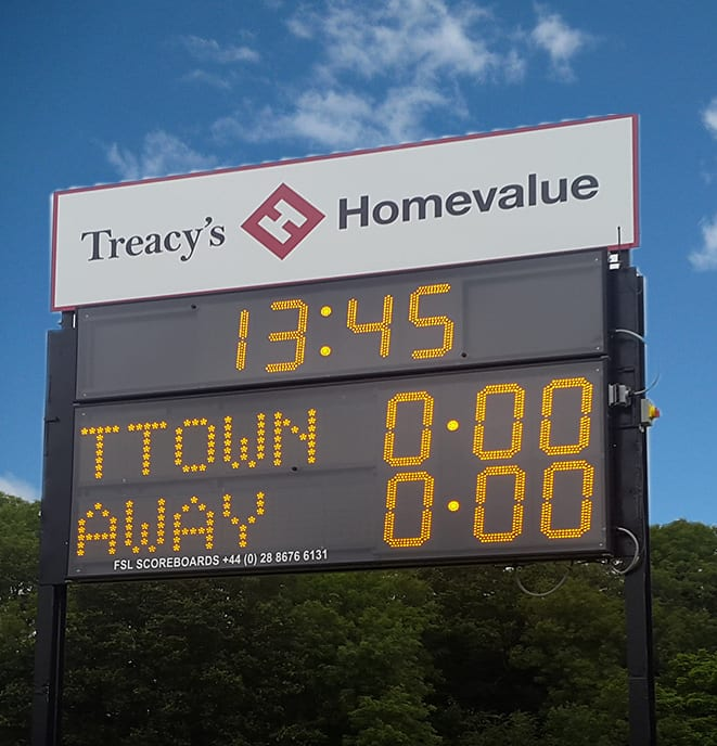 G03: Club Branded Scoreboard with Digital Team Names and Clock Product Image